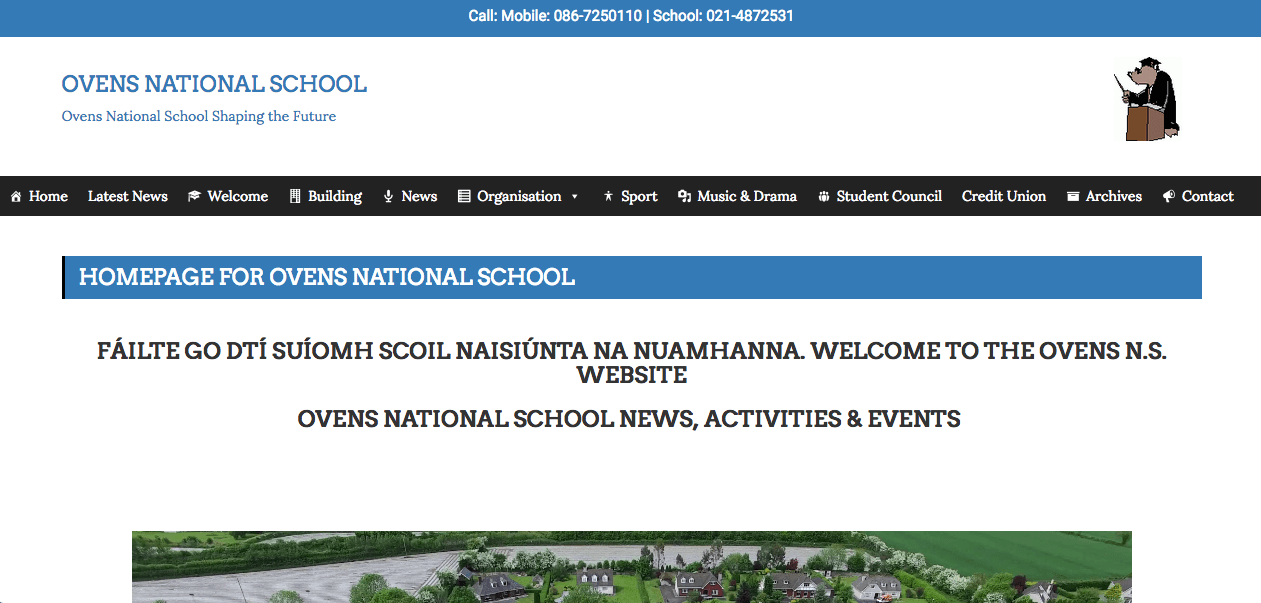 Ovens National School Website Design